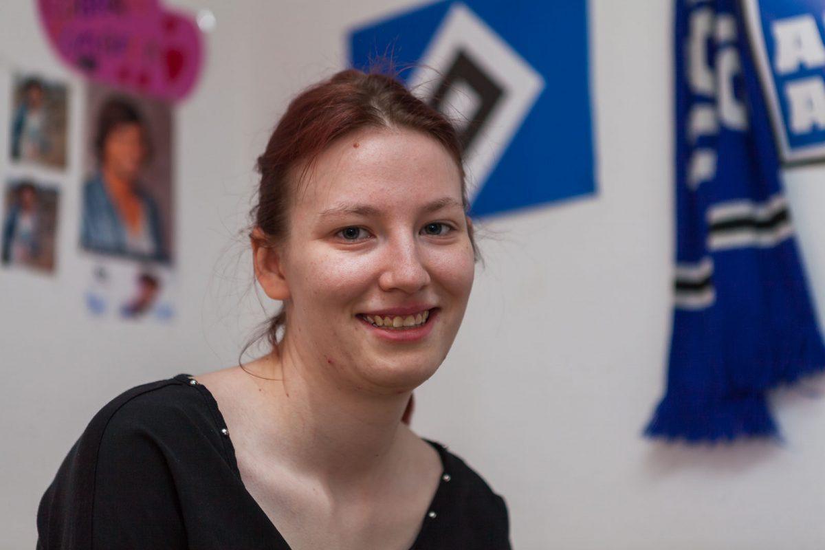 Cindy M. zeigt gern ihre Leidenschaft für den  HSV
