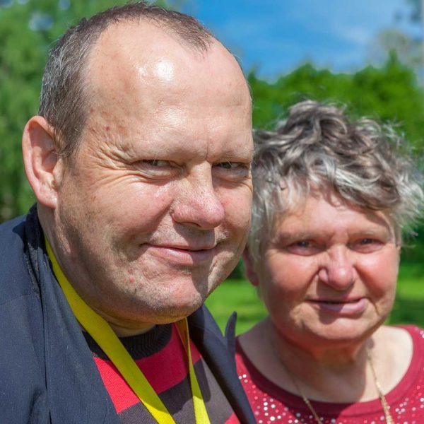 Anke K. und Florian H. leben als Paar auf dem Erdlandschen Hof