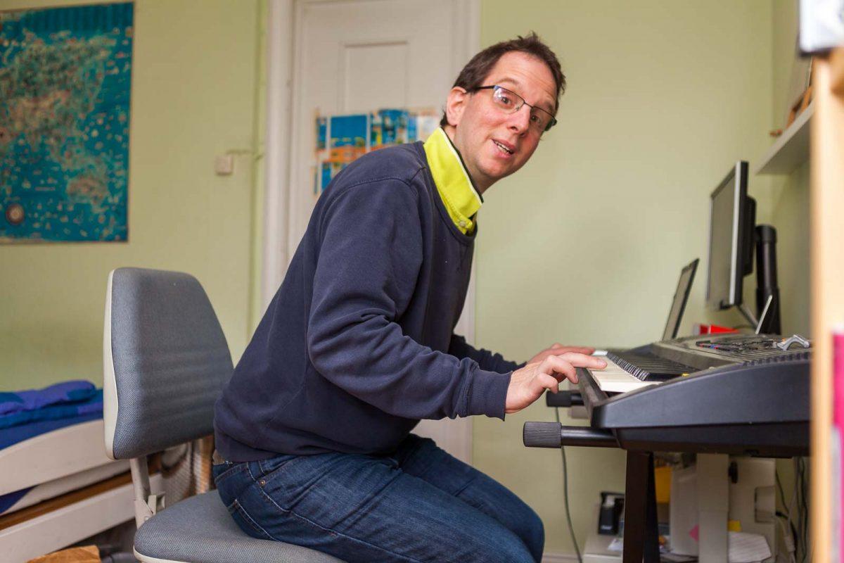 Auch am Keyboard ist Philipp aktiv