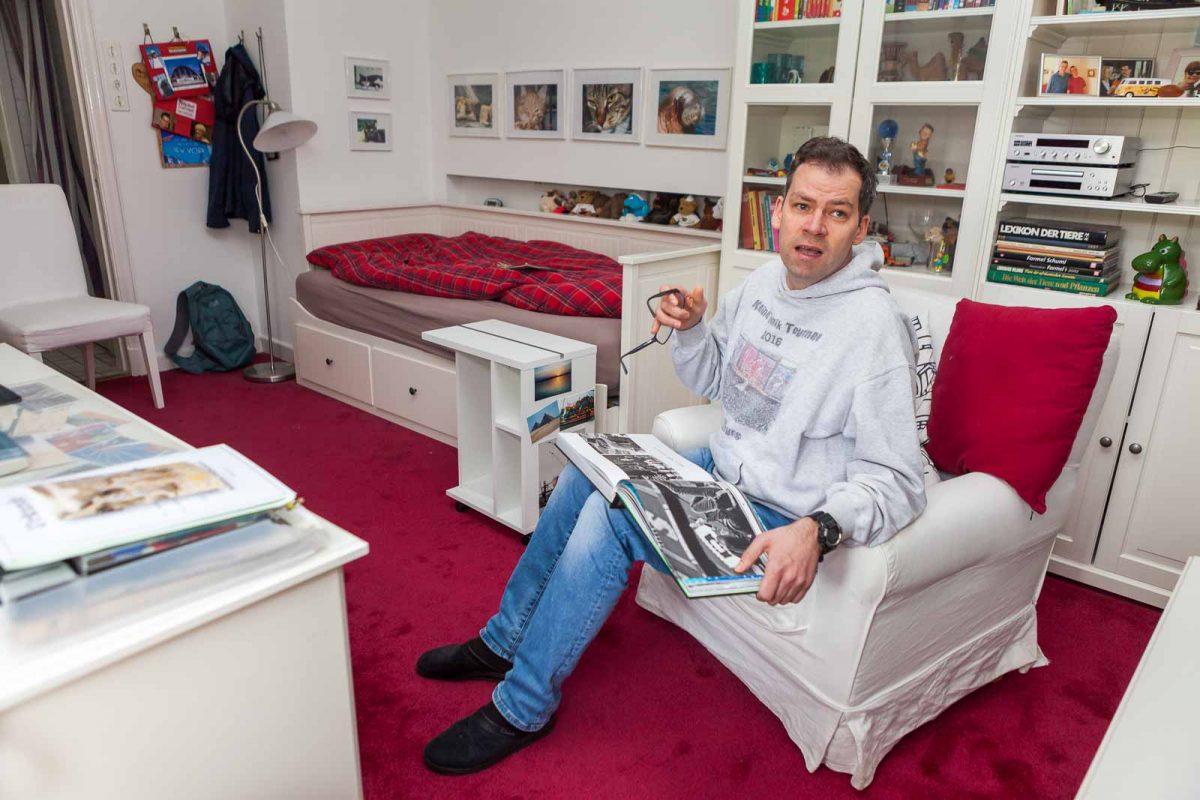 Jan-Marc R. hat es in seinem Zimmer gern ordentlich und steht auf Udo Lindenberg